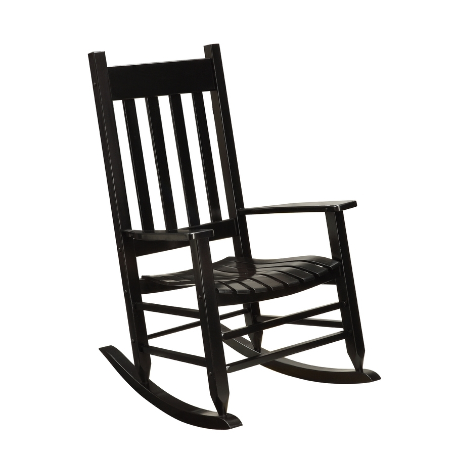Black Wicker Bistro Sets Table Chair Patio Garden Outdoor Garden Throughout Black Patio Rocking Chairs (#1 of 15)