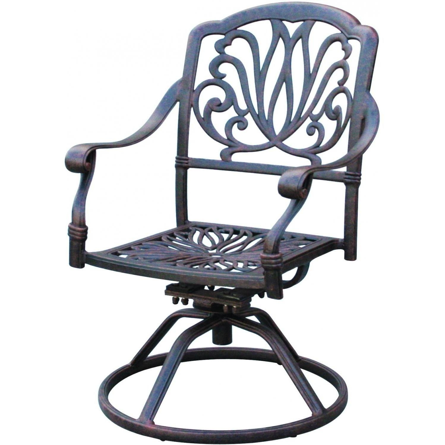 Black Wrought Iron Swivel Rocker Patio Chairs Using Black Wooden Within Iron Rocking Patio Chairs (#4 of 15)