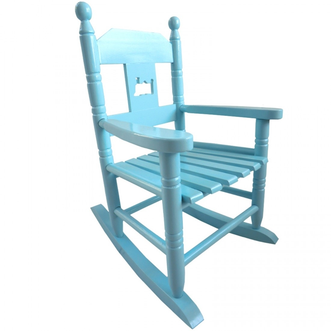 Blue Childs Rocking Chair With Xl Rocking Chairs (#3 of 15)