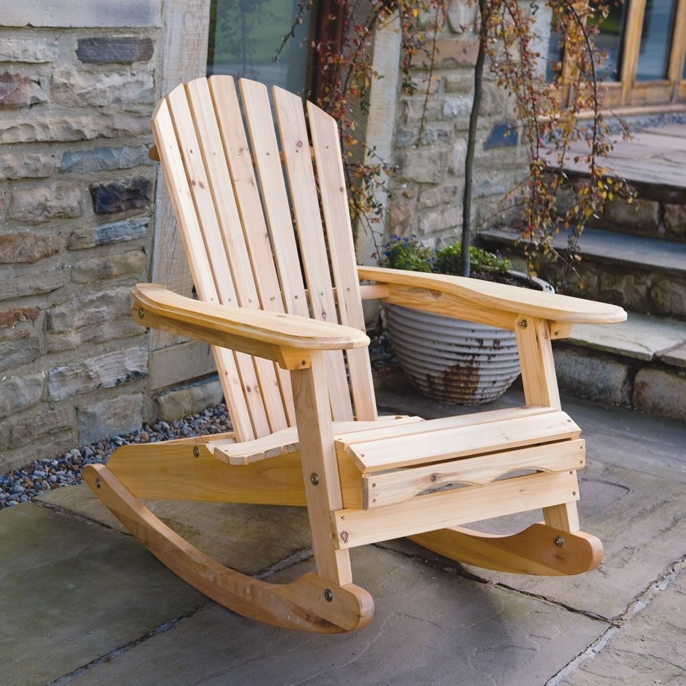 Popular Photo of Patio Wooden Rocking Chairs