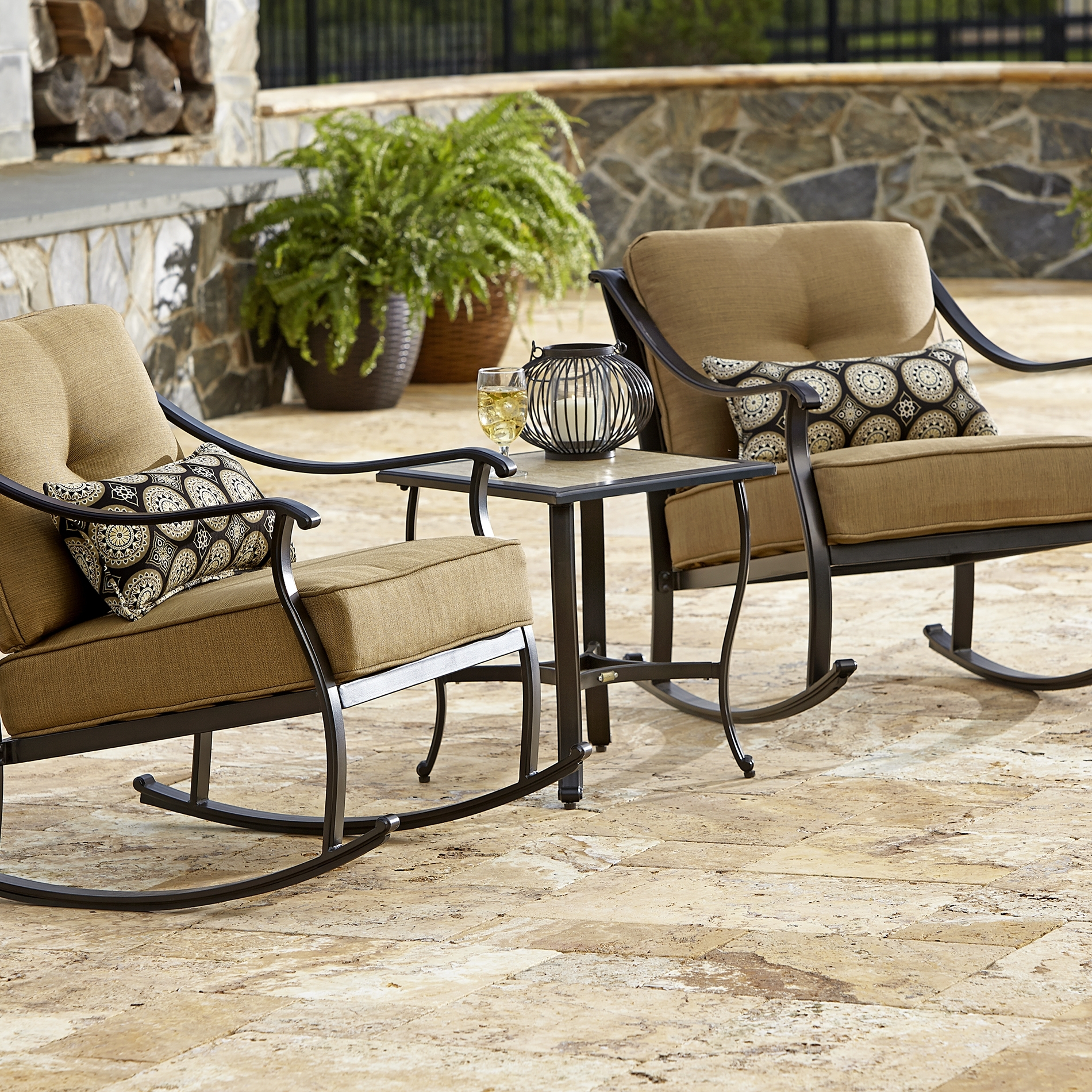 Boy Outdoor Dlao Landon Piece Bistro Set Sears Spin Prod Lazy With Outside Rocking Chair Sets (View 1 of 15)