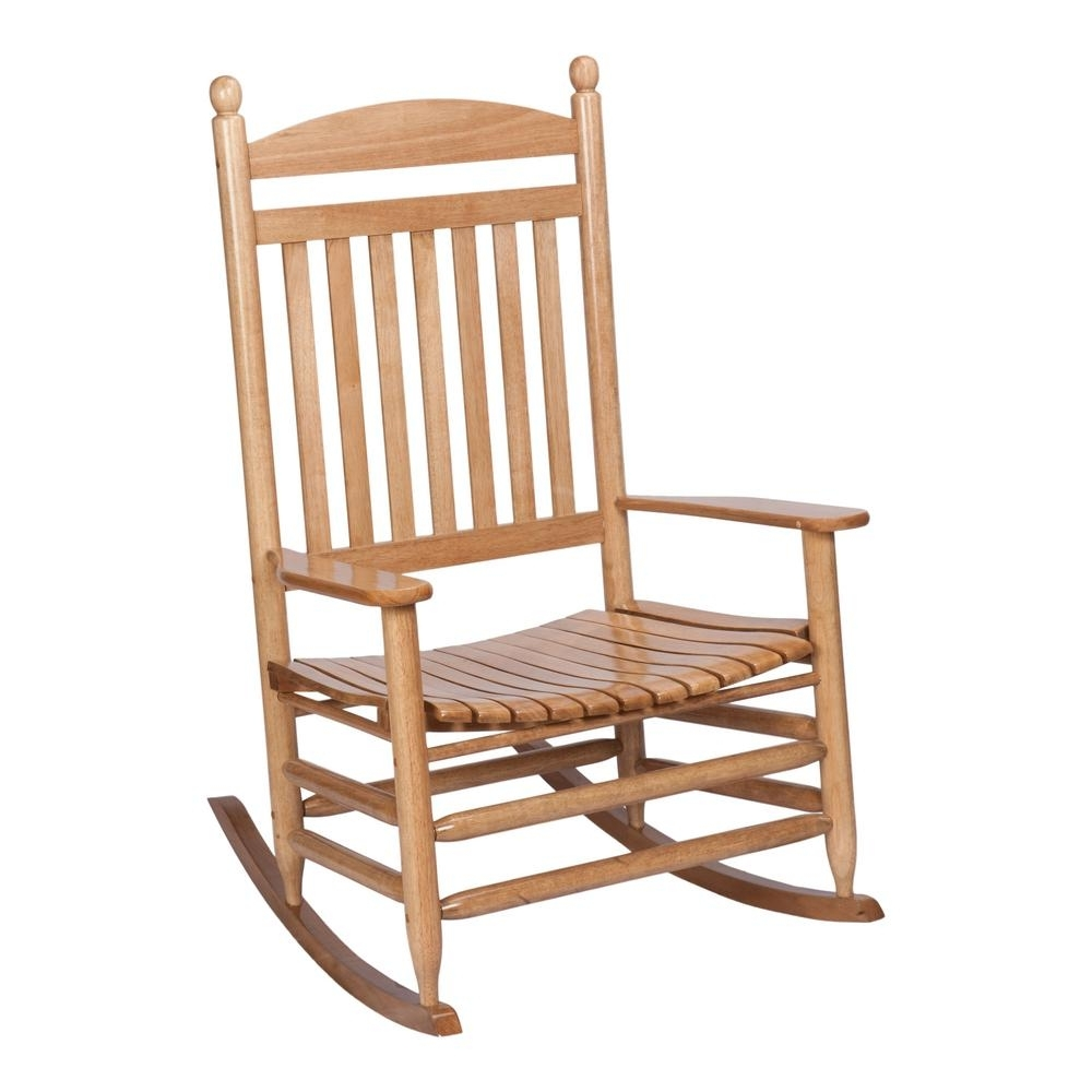 Bradley Maple Jumbo Slat Wood Outdoor Patio Rocking Chair 1200Sm Rta Within Oversized Patio Rocking Chairs (#4 of 15)
