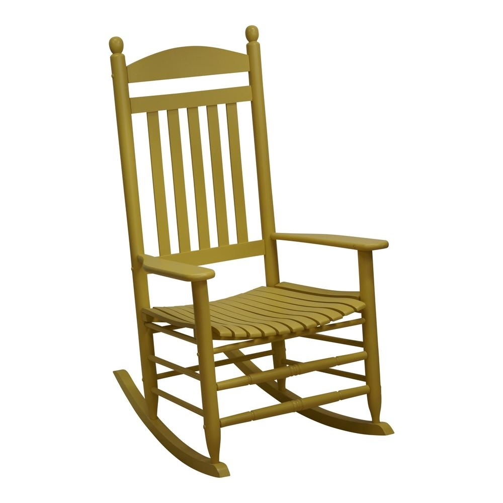 Bradley Slat Cornbread Patio Rocking Chair 200S Corn Rta – The Home Throughout Yellow Outdoor Rocking Chairs (#2 of 15)