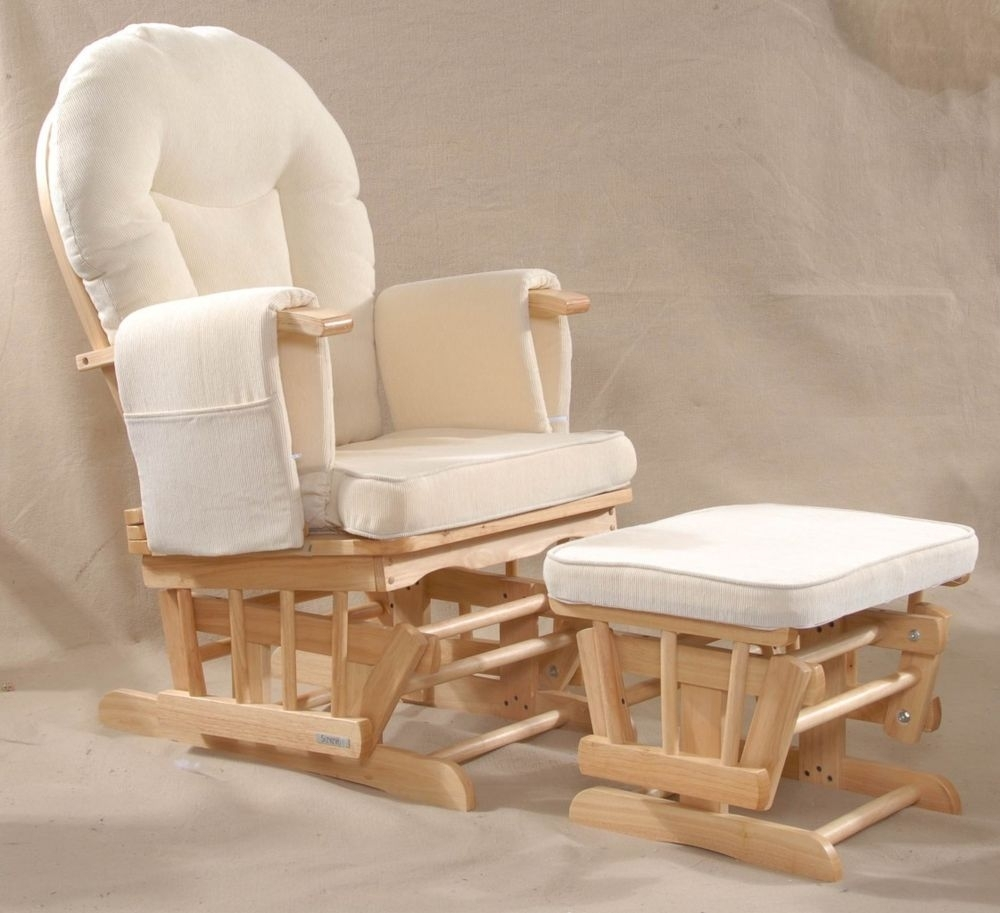 Buy Kub Haywood Glider Nursing Chair And Footstool, Natural | Baby Inside Rocking Chairs For Nursing (View 5 of 15)