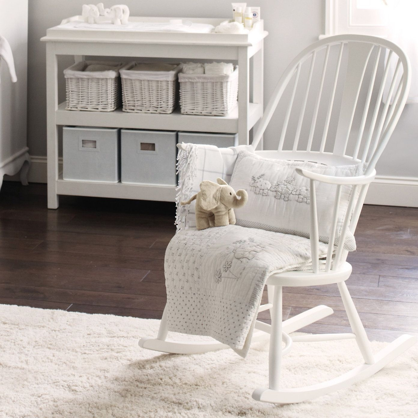Buy Lookbooks > Home > Ercol Rocking Chair – White From The White Throughout Rocking Chairs For Baby Room (View 11 of 15)