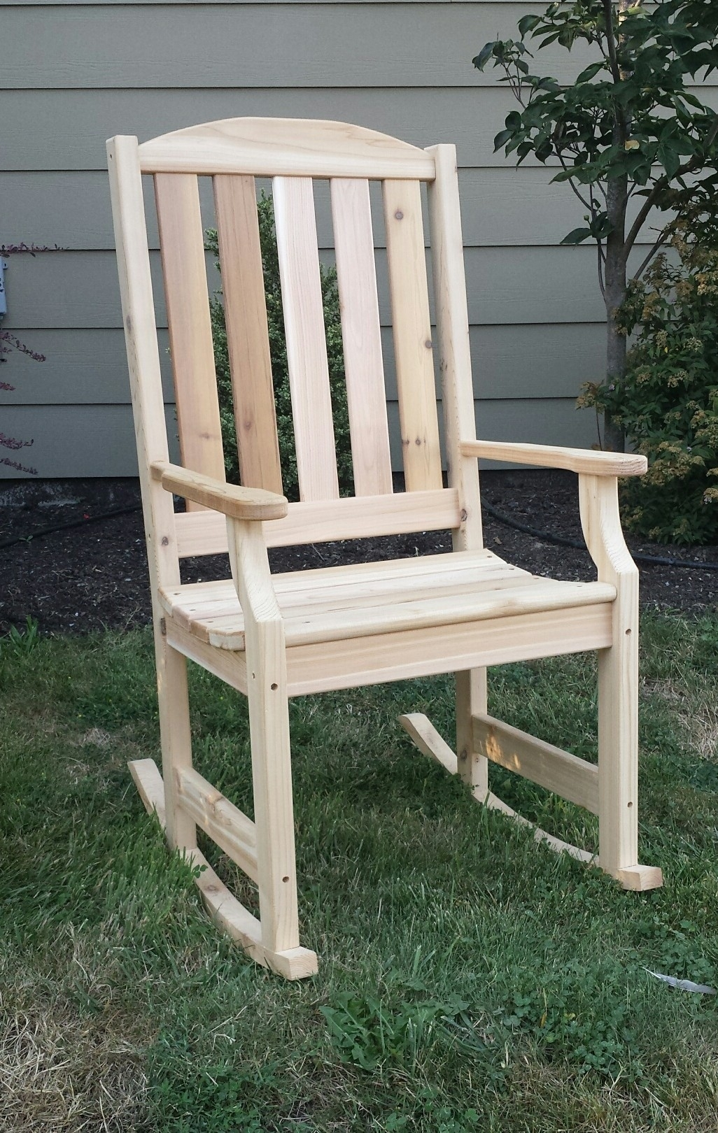 Chair | Patio Furniture Rocking Chair Painted Adirondack Chairs Throughout Rocking Chairs For Garden (#2 of 15)