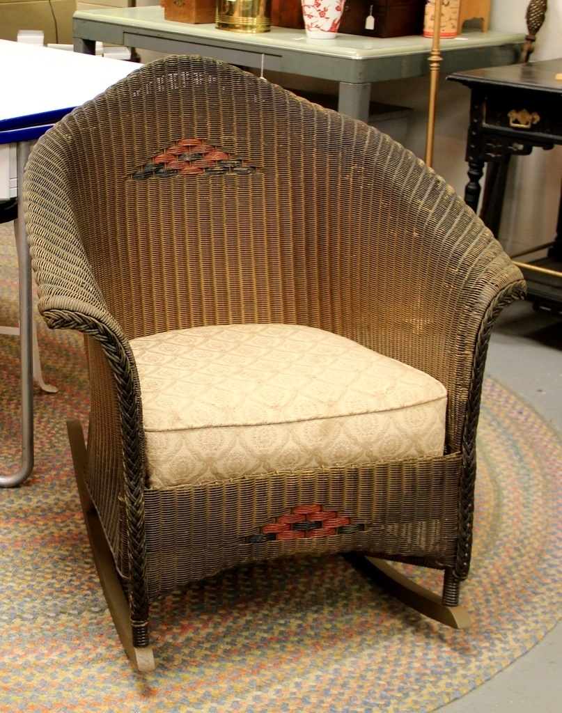 Chair | Rattan Outdoor Furniture Rocking Chair Plans Colonial Within Antique Wicker Rocking Chairs (#7 of 15)