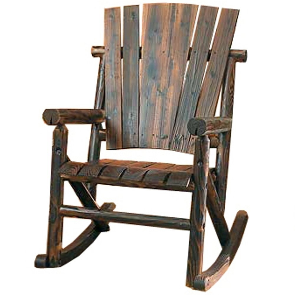 Chair | Rocking Chair Made Modern Style Rocking Chair Outdoor Black Intended For Wooden Patio Rocking Chairs (#4 of 15)