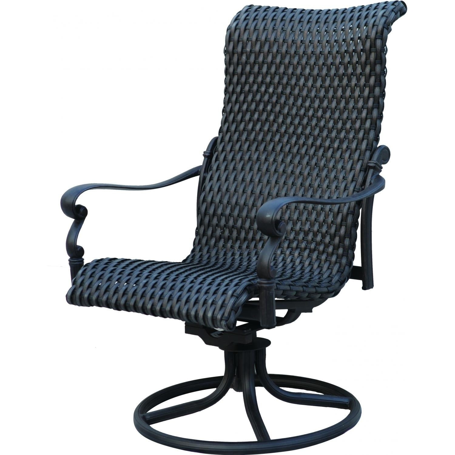 Chair | Swivel Patio Chairs Sale High Back Swivel Rocker Patio With Padded Patio Rocking Chairs (#7 of 15)