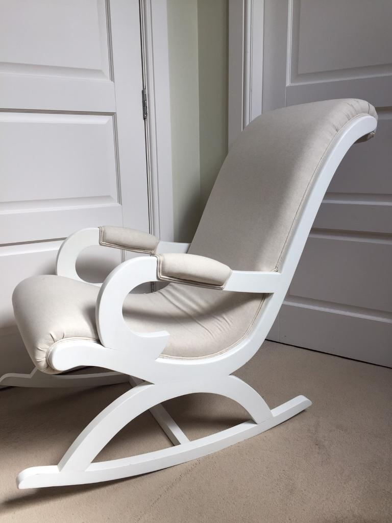 Chair | Upholstered Glider Chair With Ottoman At Home Rocking Chair Intended For Rocking Chairs For Nursery (#5 of 15)