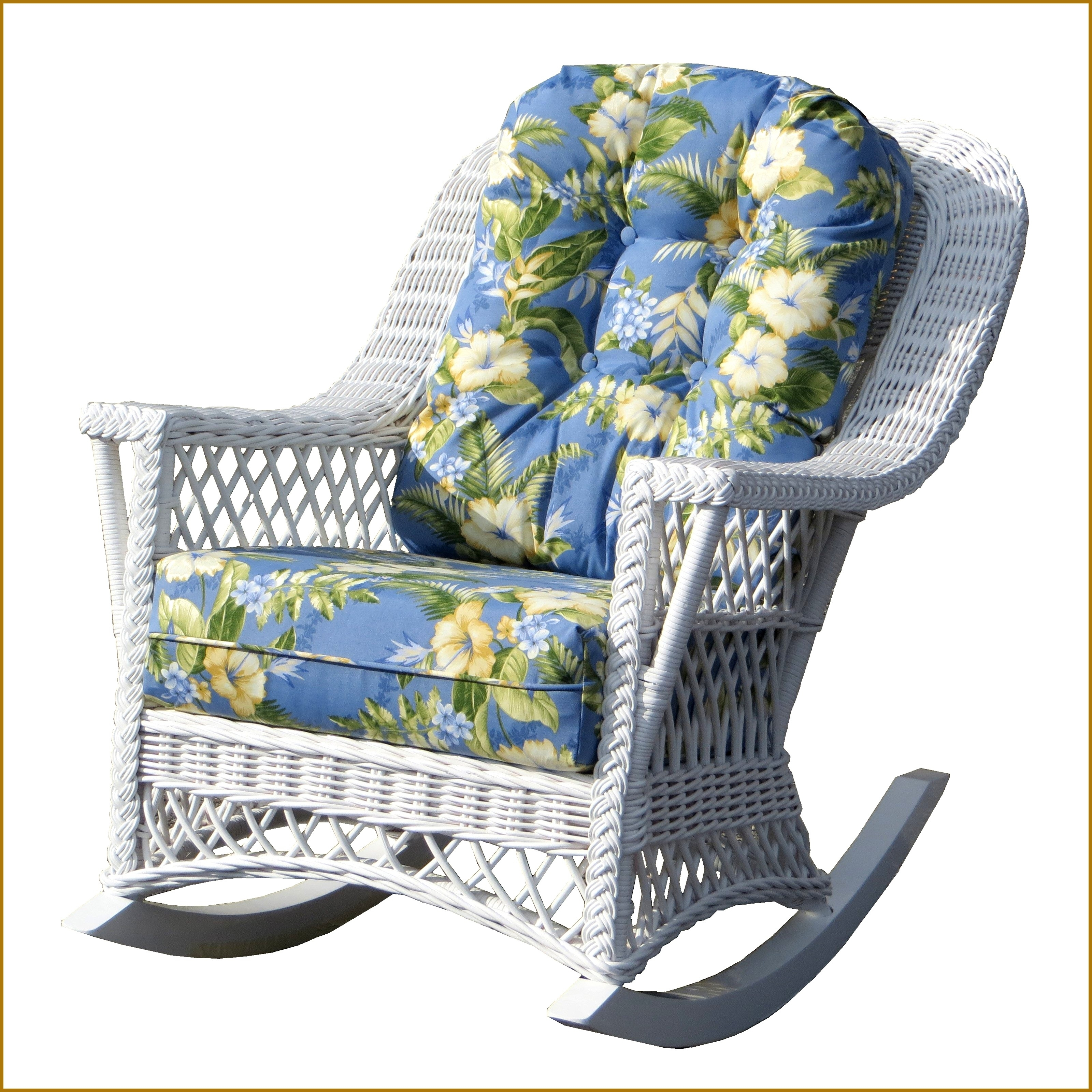Chair | White Rattan Rocker Amish Glider Gliders Furniture Indoor Within White Wicker Rocking Chair For Nursery (View 8 of 15)