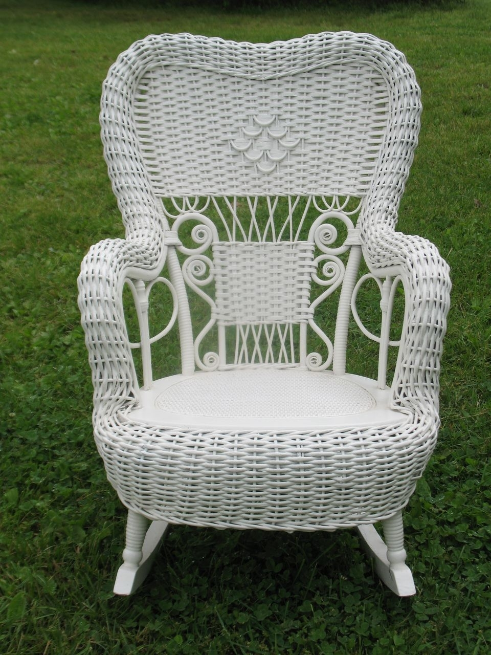 Chair | Wicker Porch Rockers Outdoor Furniture Wooden Garden Rocking Intended For White Wicker Rocking Chairs (#4 of 15)