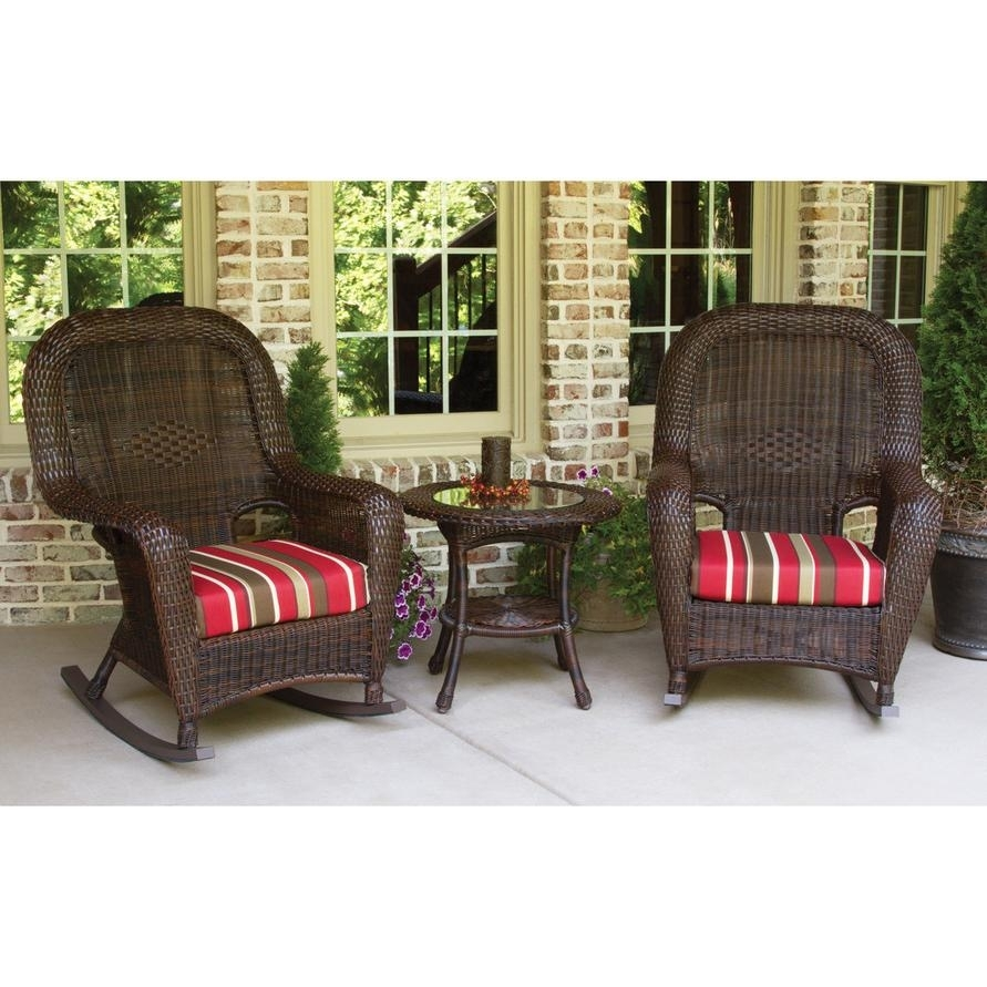 Chair | Wicker Rocker Cushions Small Rocking Chair Glider Chair Within Wicker Rocking Chairs Sets (#3 of 15)
