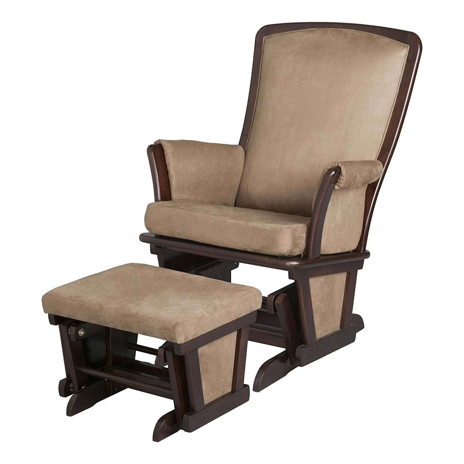 Chair | Wicker Rocking Chair High Back Upholstered Rocking Chair With Wicker Rocking Chairs And Ottoman (#3 of 15)