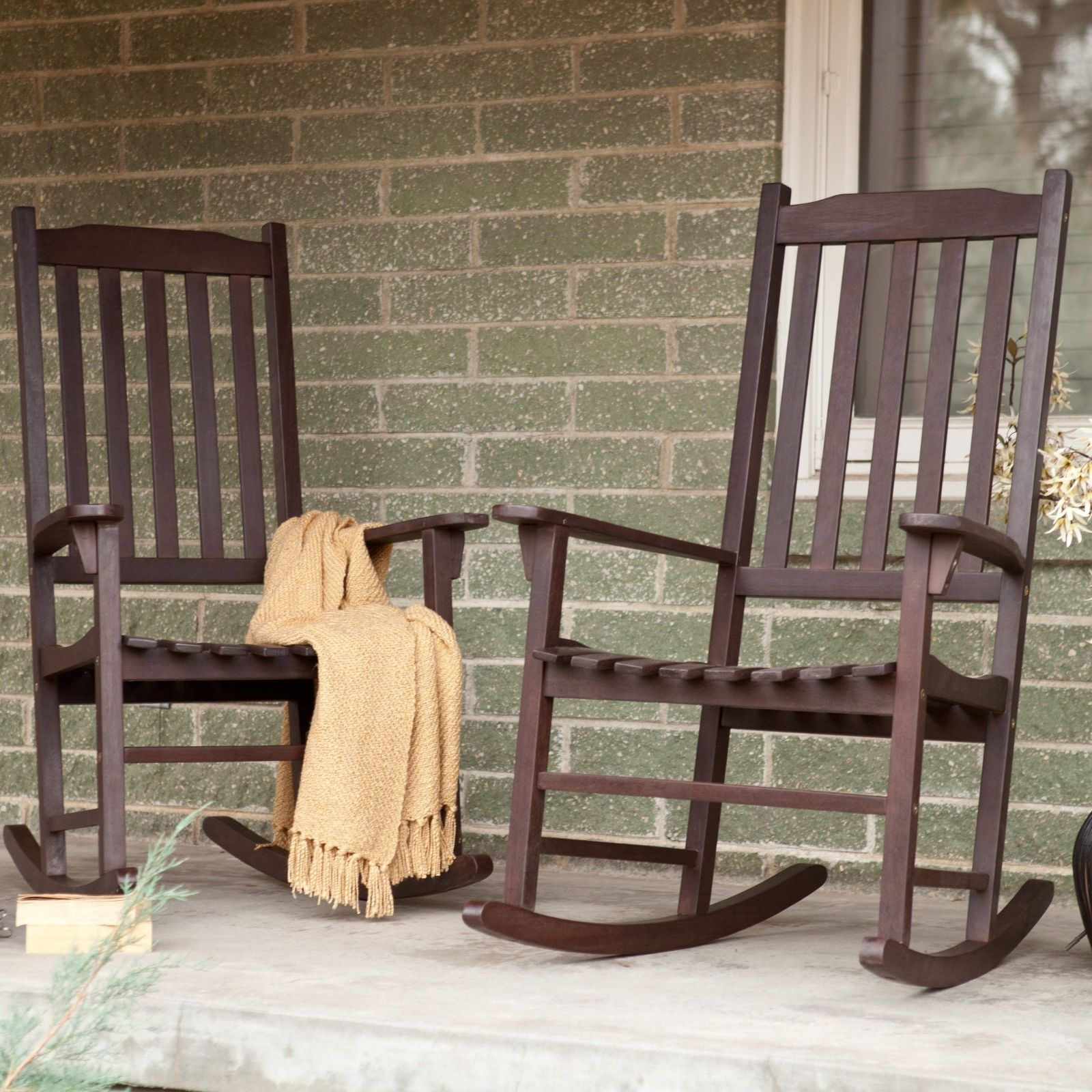 Chairs: Fancy Outdoor Rocking Chair For Your Outdoor Space Regarding Patio Furniture Rocking Benches (#6 of 15)