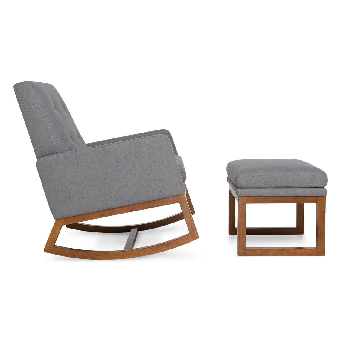 Charcoal Rocker Armchair | Freedom Pertaining To Rocking Chairs With Footstool (#5 of 15)