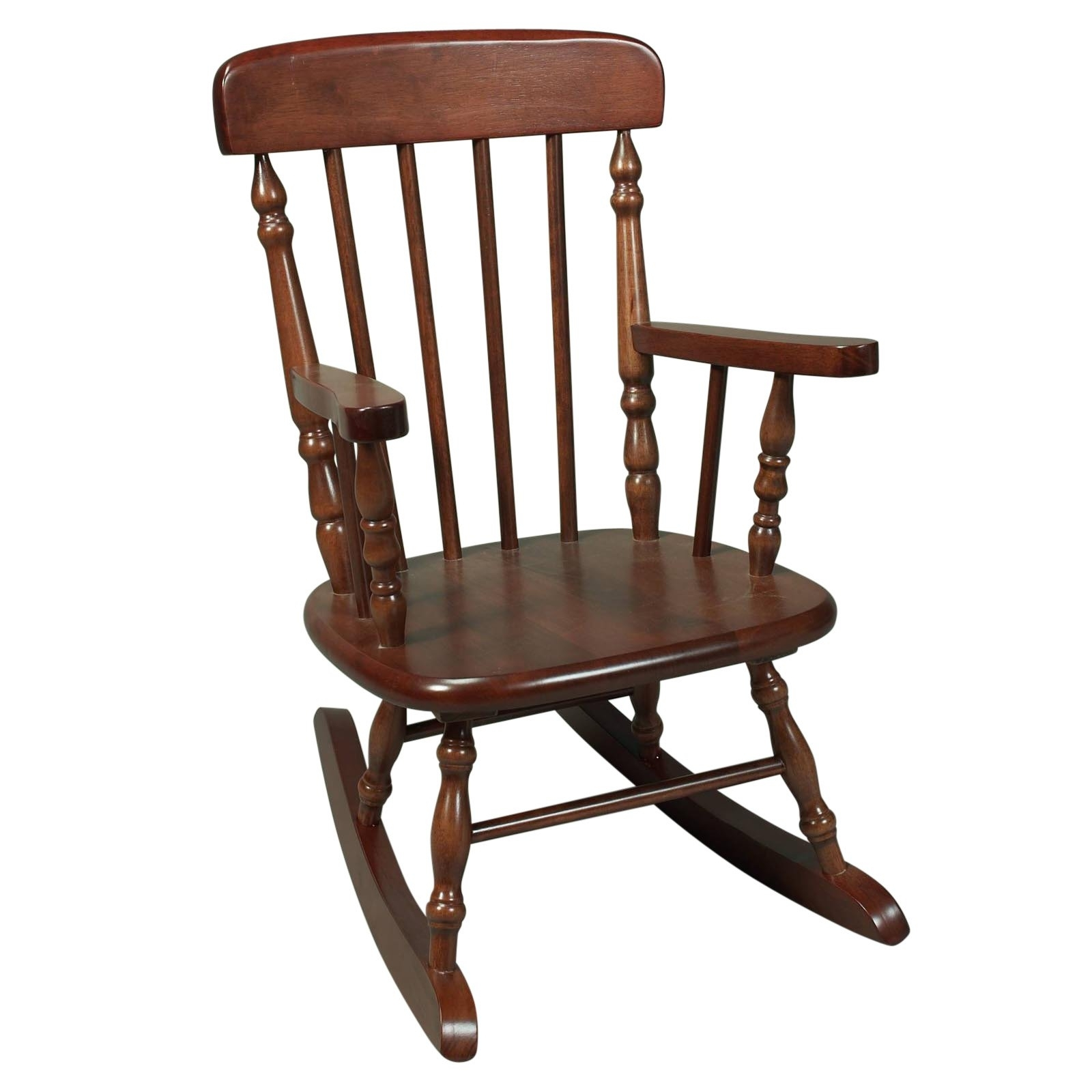 Cheap Wooden Rocking Chair Contemporary Kids Spindle Hayneedle Inside Char Log Patio Rocking Chairs With Star (#2 of 15)
