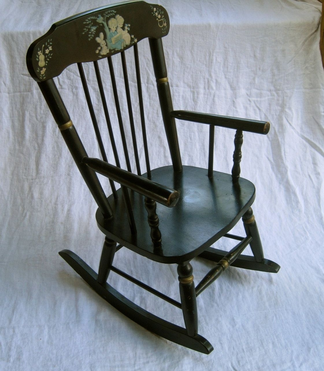 Children's Musical Rocking Chair – Vintage, Maderamsdell (View 7 of 15)