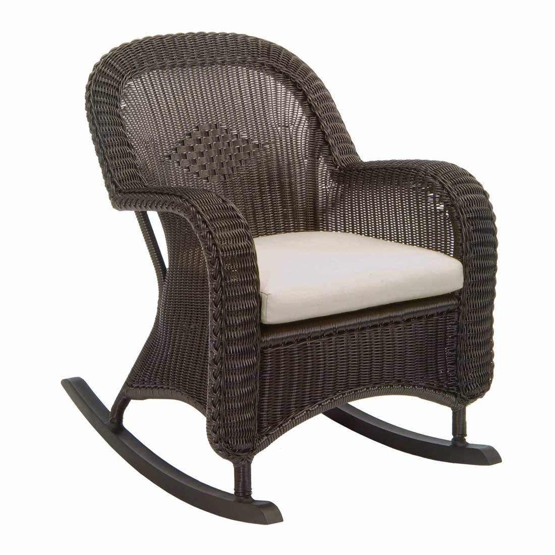 Classic Outdoor Wicker Rocking Chair Throughout Outdoor Wicker Rocking Chairs (#4 of 15)