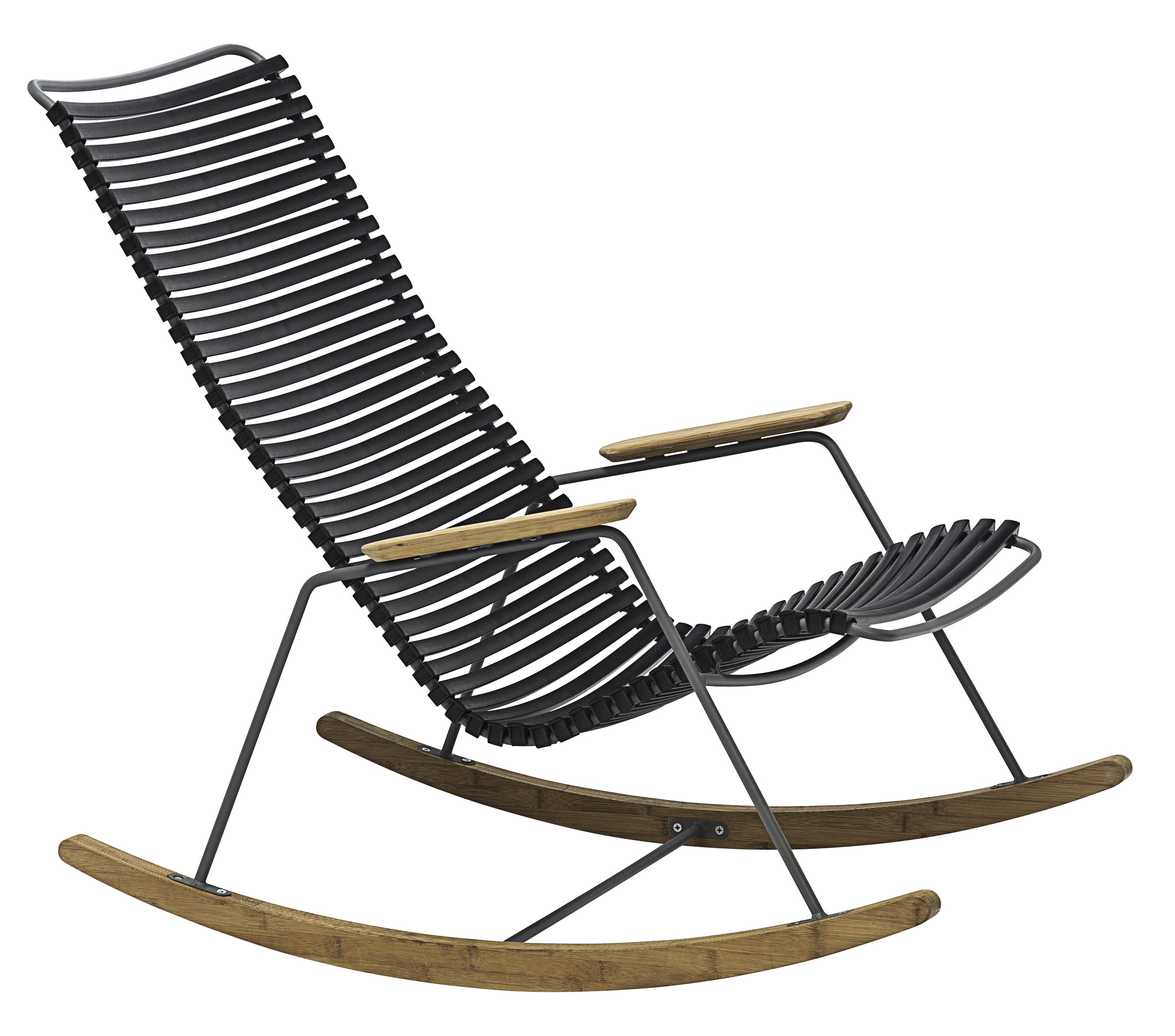 Click Rocking Chair – / Plastic & Bamboo Blackhoue | Made In With Regard To Xl Rocking Chairs (View 6 of 15)