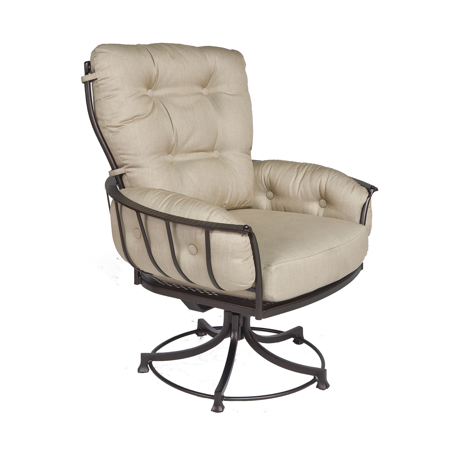 Club Swivel Rocker Dining Arm Chair | Fishbecks Patio Furniture With Patio Rocking Swivel Chairs (#3 of 15)