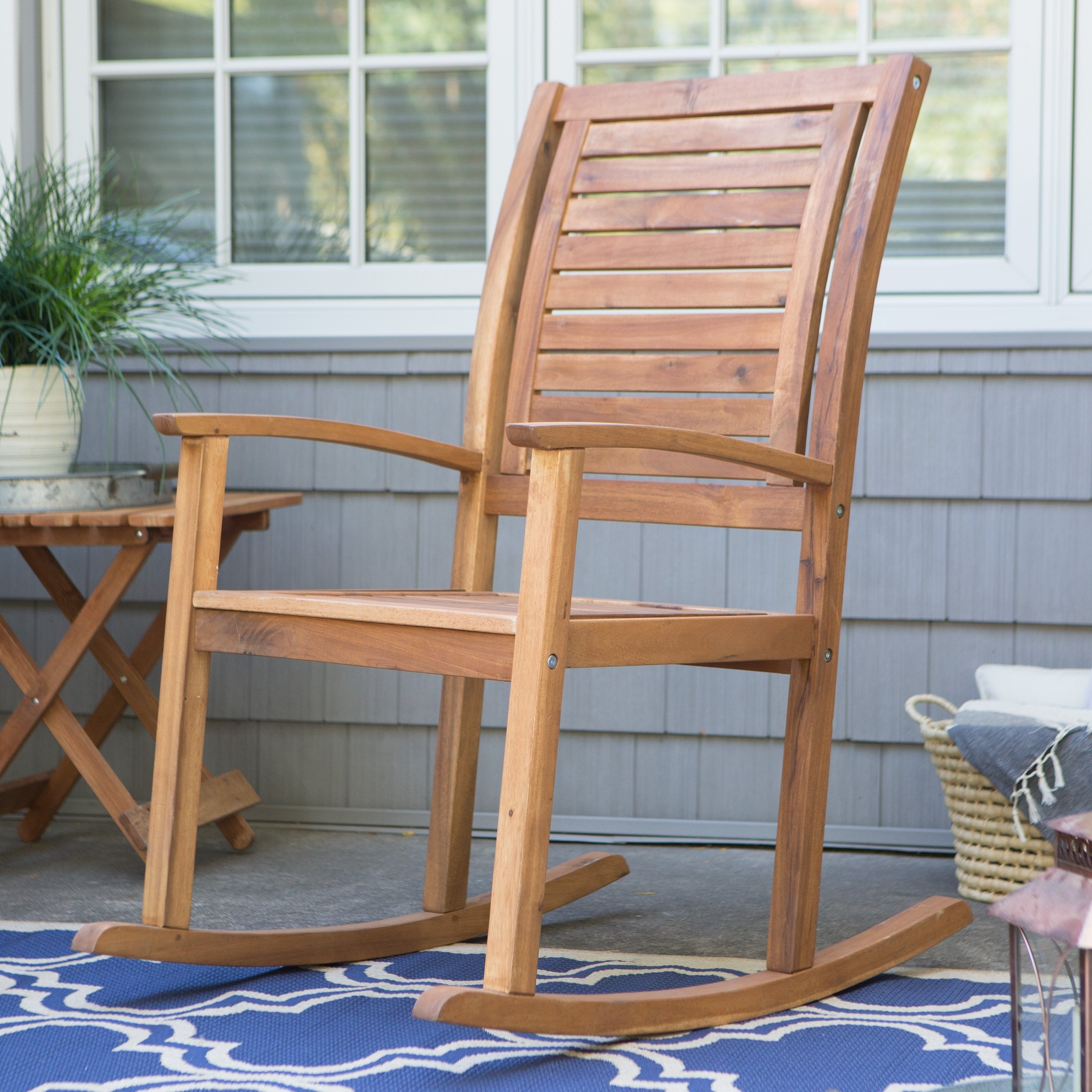 Coral Coast Norwood Indoor/outdoor Horizontal Slat Back Rocking With Regard To Zen Rocking Chairs (#3 of 15)