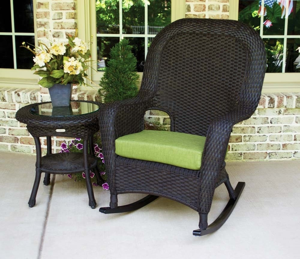 Cozy Outdoor Wicker Rocking Chairs — Life On The Move Within Outdoor Patio Rocking Chairs (View 2 of 15)
