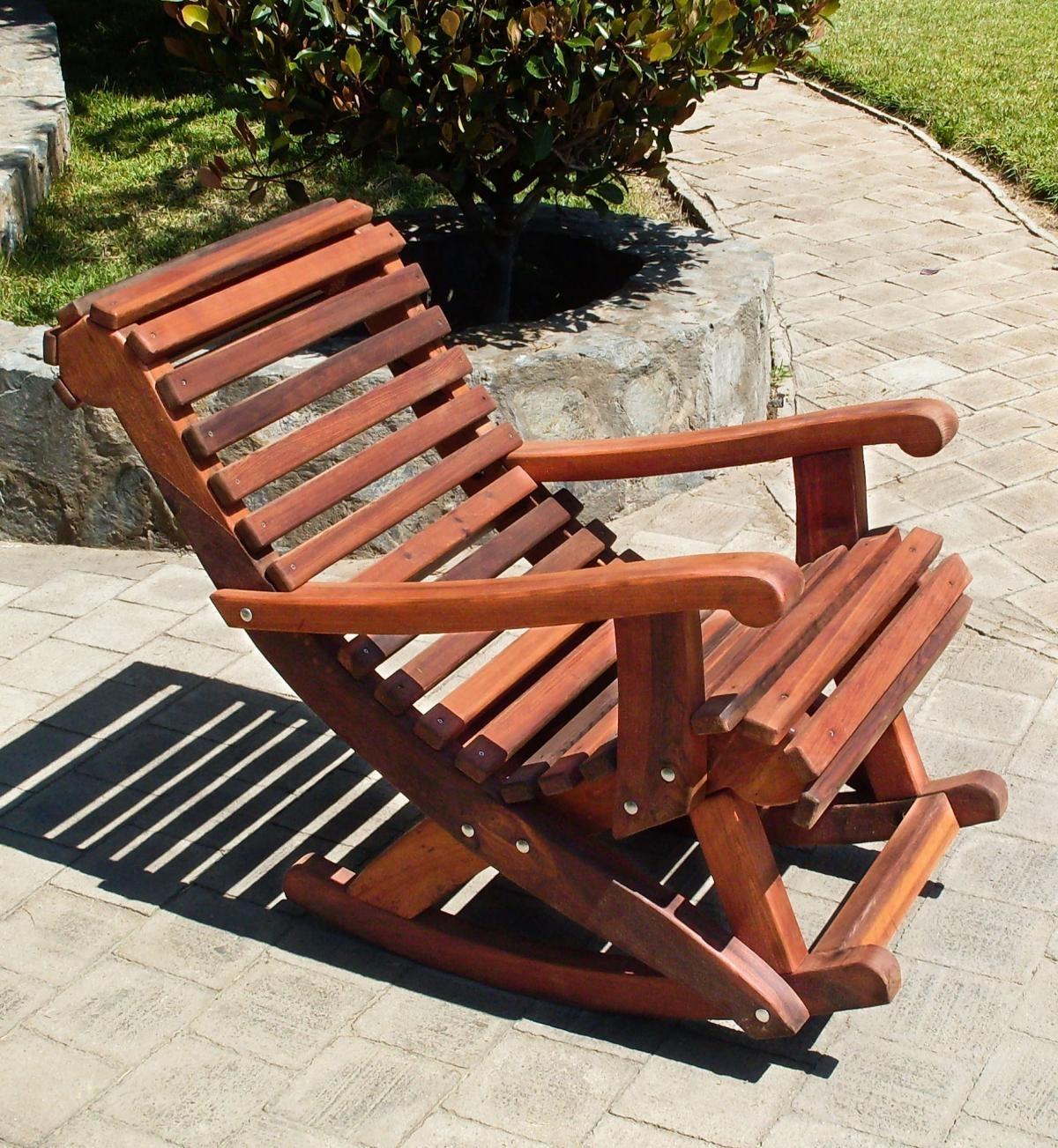 Cozy Outdoor Wooden Rocking Chairs : Pleasure Outdoor Wooden Rocking Throughout Rocking Chair Outdoor Wooden (View 5 of 15)