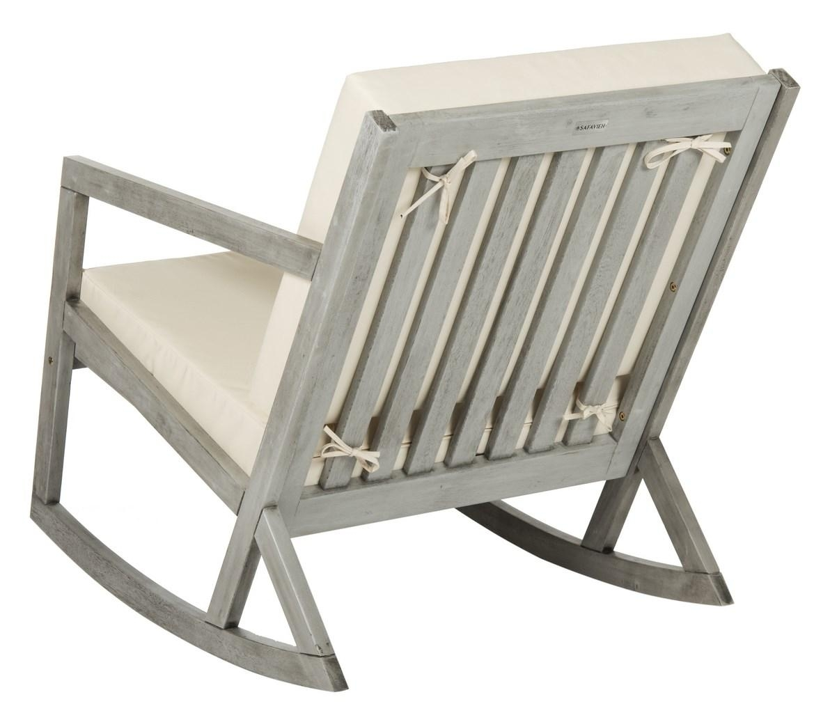 Cushioned Rocking Chair | Outdoor Rocker – Safavieh For Oversized Patio Rocking Chairs (#8 of 15)