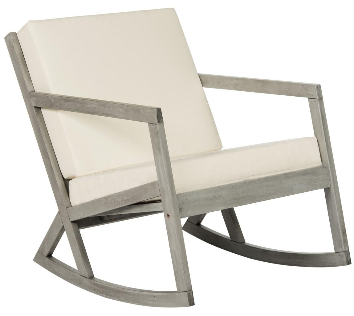 Cushioned Rocking Chair | Outdoor Rocker – Safavieh Intended For Padded Patio Rocking Chairs (#8 of 15)