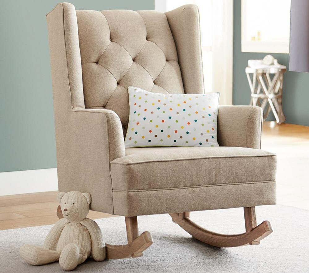 Cute Child's Upholstered Rocking Chair — All Modern Rocking Chairs In Upholstered Rocking Chairs (#8 of 15)