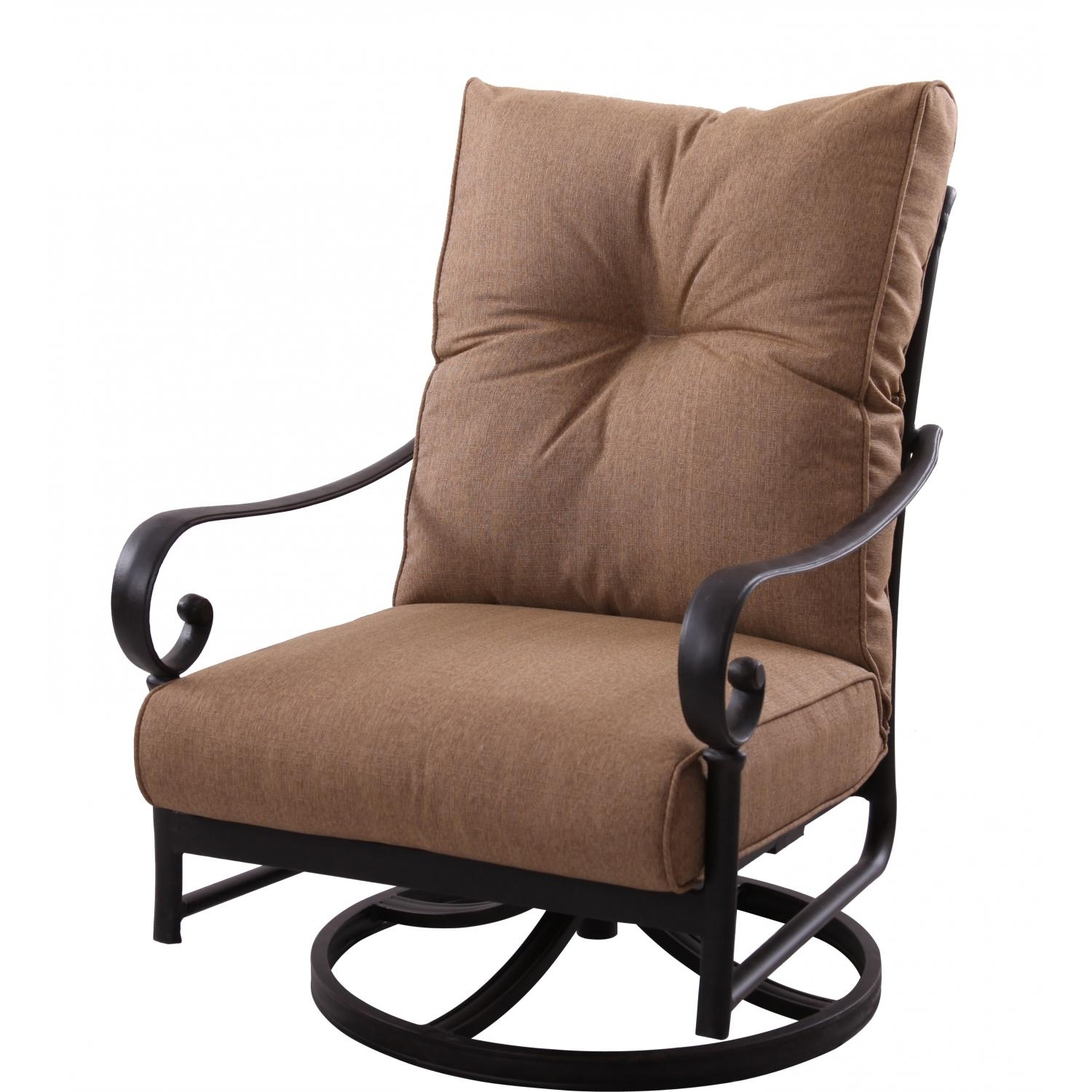 Darlee Santa Anita Swivel Rocker Club Chair – Cast Aluminum Inside Patio Rocking Swivel Chairs (#5 of 15)