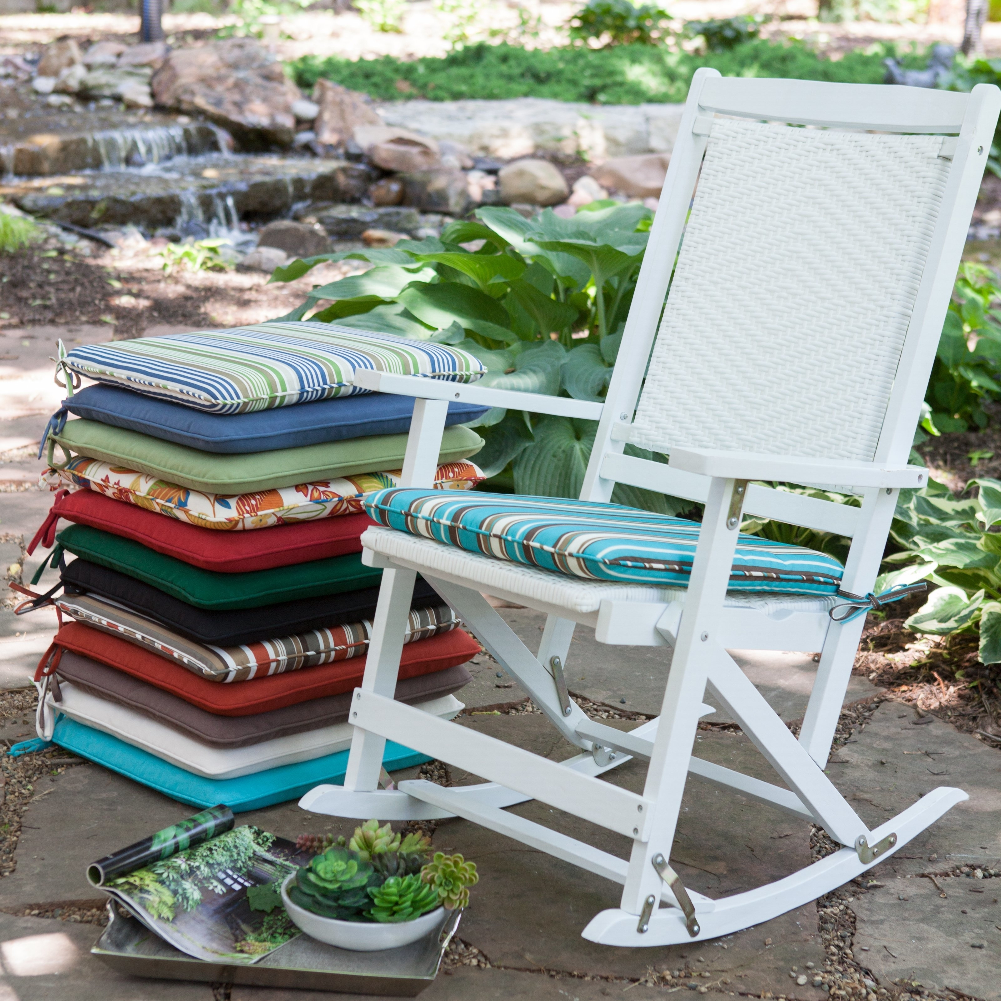 Decor Of Patio Chair Cushions Outdoor Patio Rocking Chair Cushions Intended For Patio Rocking Chairs With Cushions (View 2 of 15)