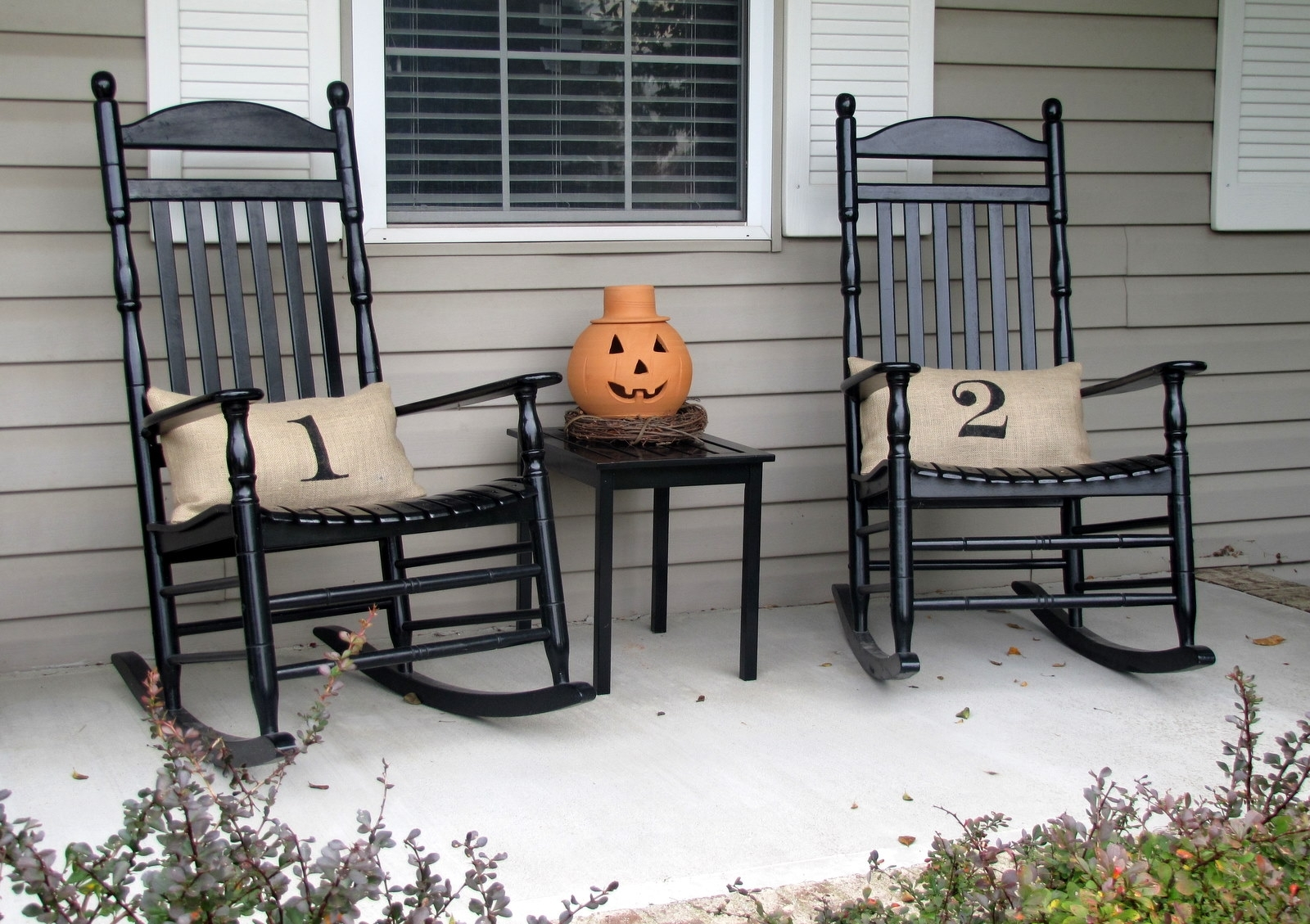 Decorating White Wood Patio Rocker Large Porch Rocking Chairs With Regard To Black Patio Rocking Chairs (#6 of 15)