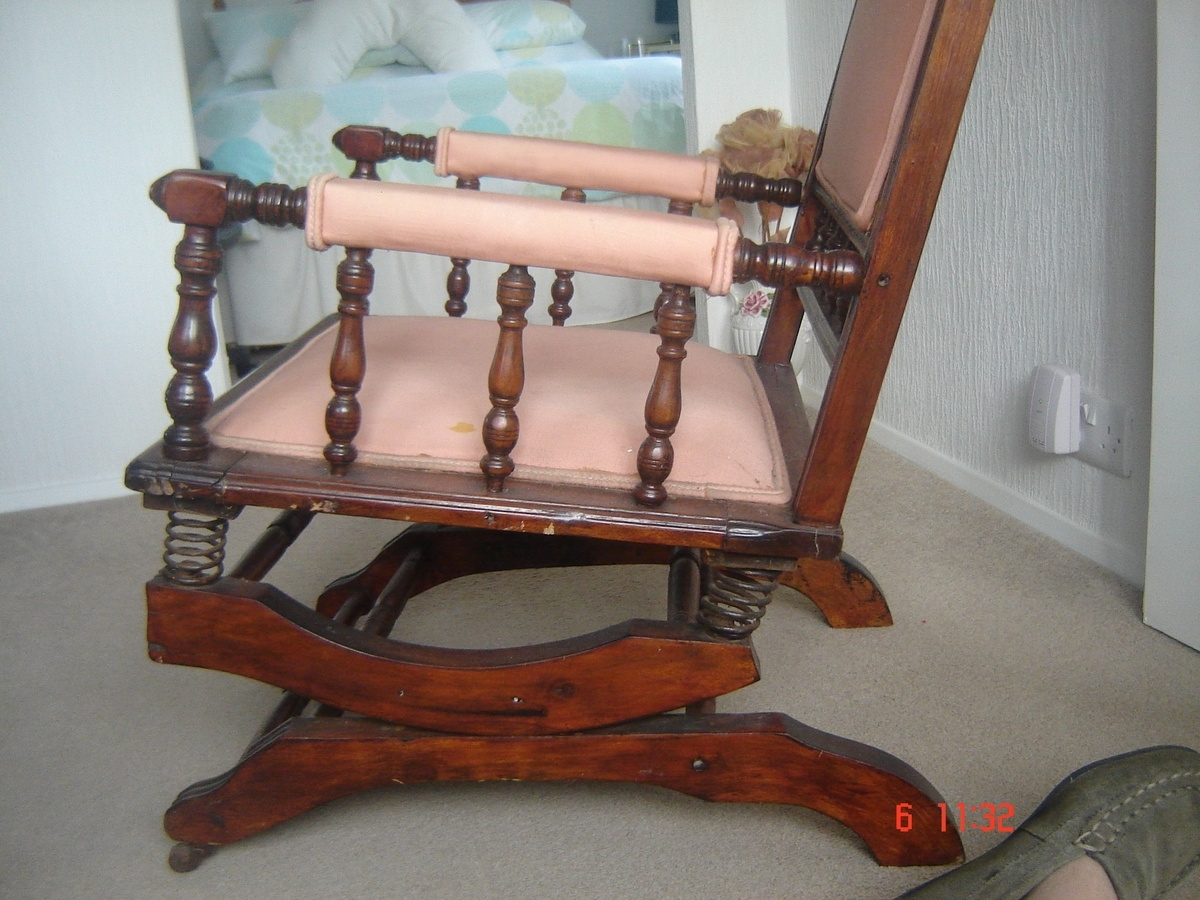 Inspiration about Dexter Rocking Chair With 6 Spring Suspension | Collectors Weekly For Rocking Chairs With Springs (#1 of 15)