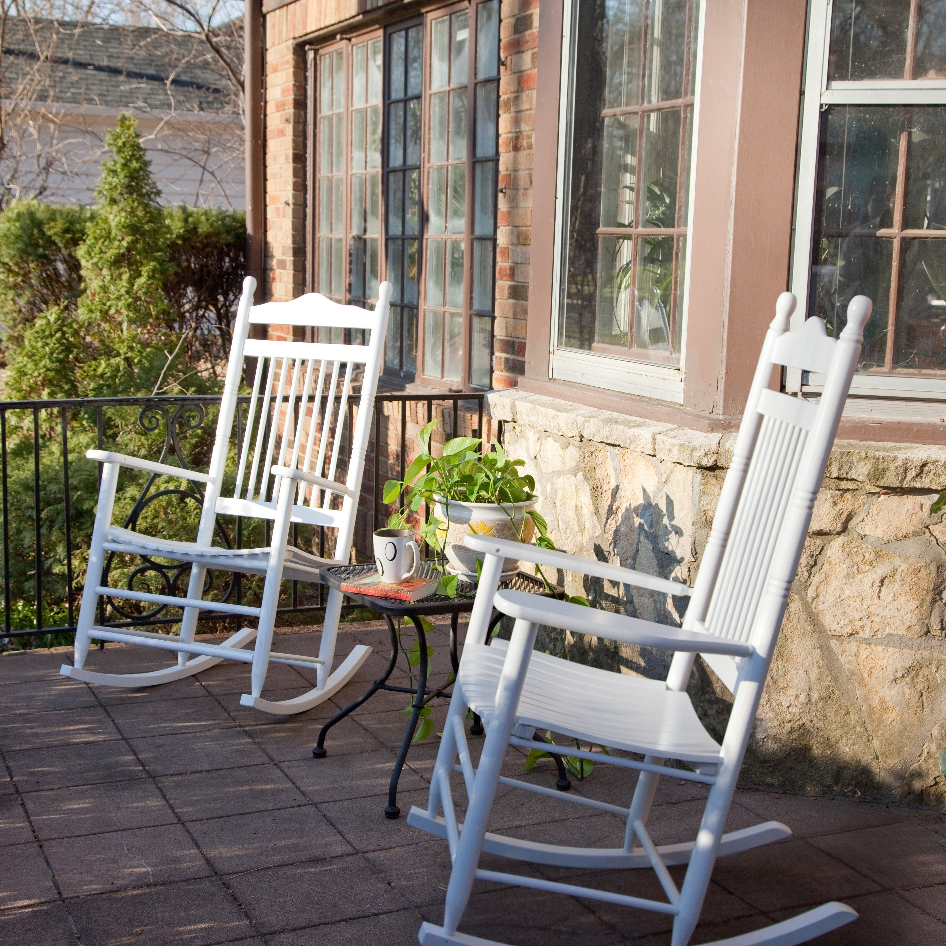 Inspiration about Dixie Seating Indoor/outdoor Spindle Rocking Chairs – White – Set Of Inside Walmart Rocking Chairs (#11 of 15)