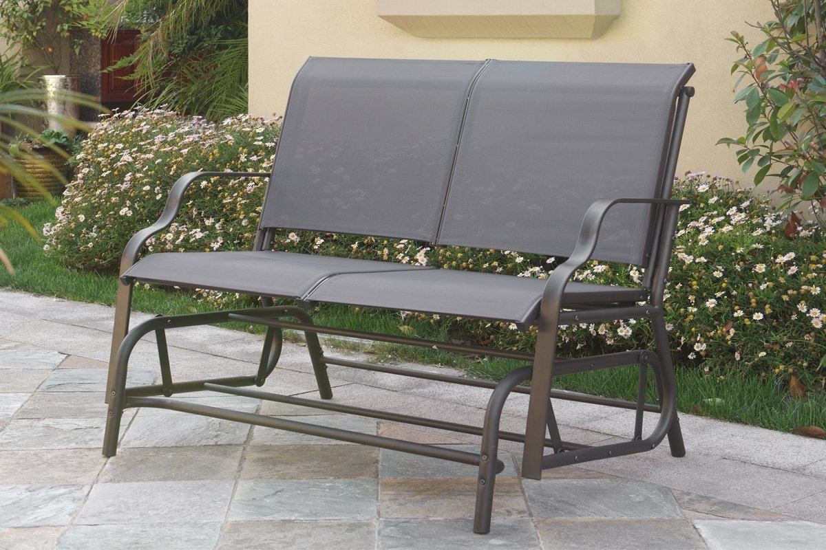 Easily Glider Outdoor Patio Furniture Swing Loveseat Bench Chair Intended For Patio Furniture Rocking Benches (#7 of 15)