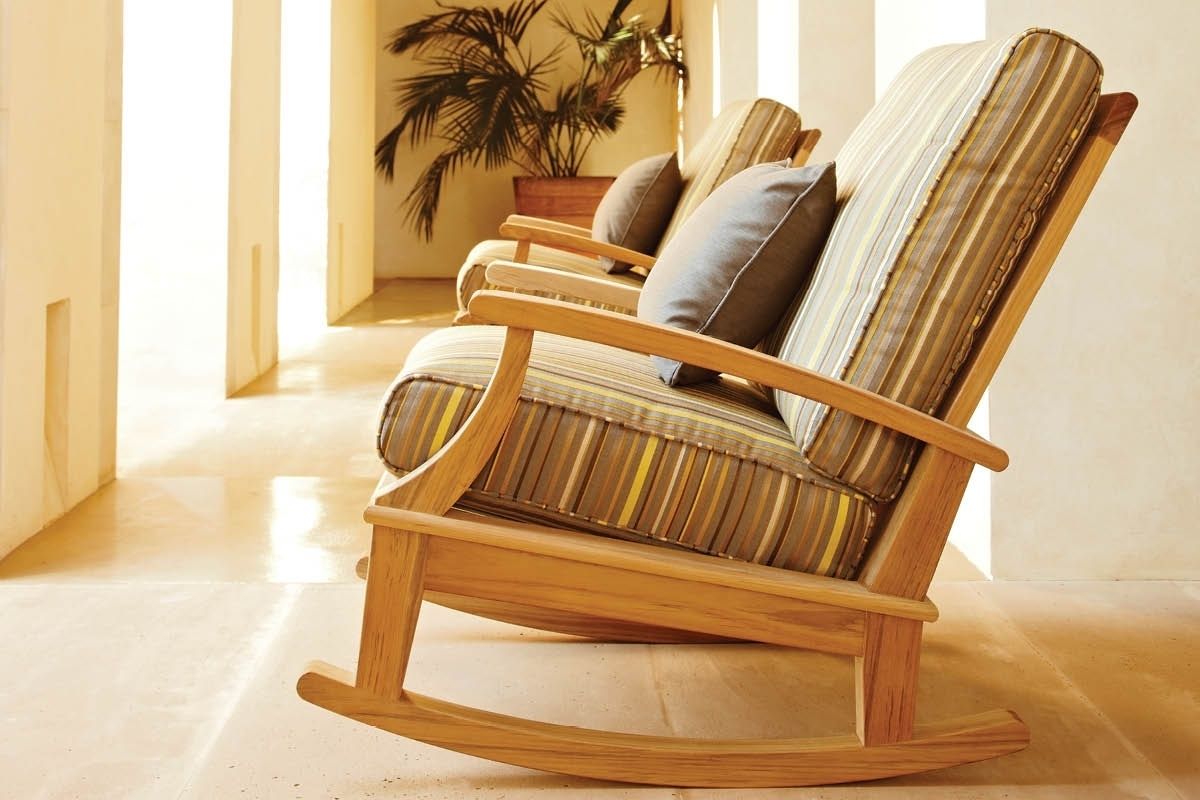 Enjoying The Right Kind Of Porch Rocking Chairs In Your Home Throughout Teak Patio Rocking Chairs (#3 of 15)