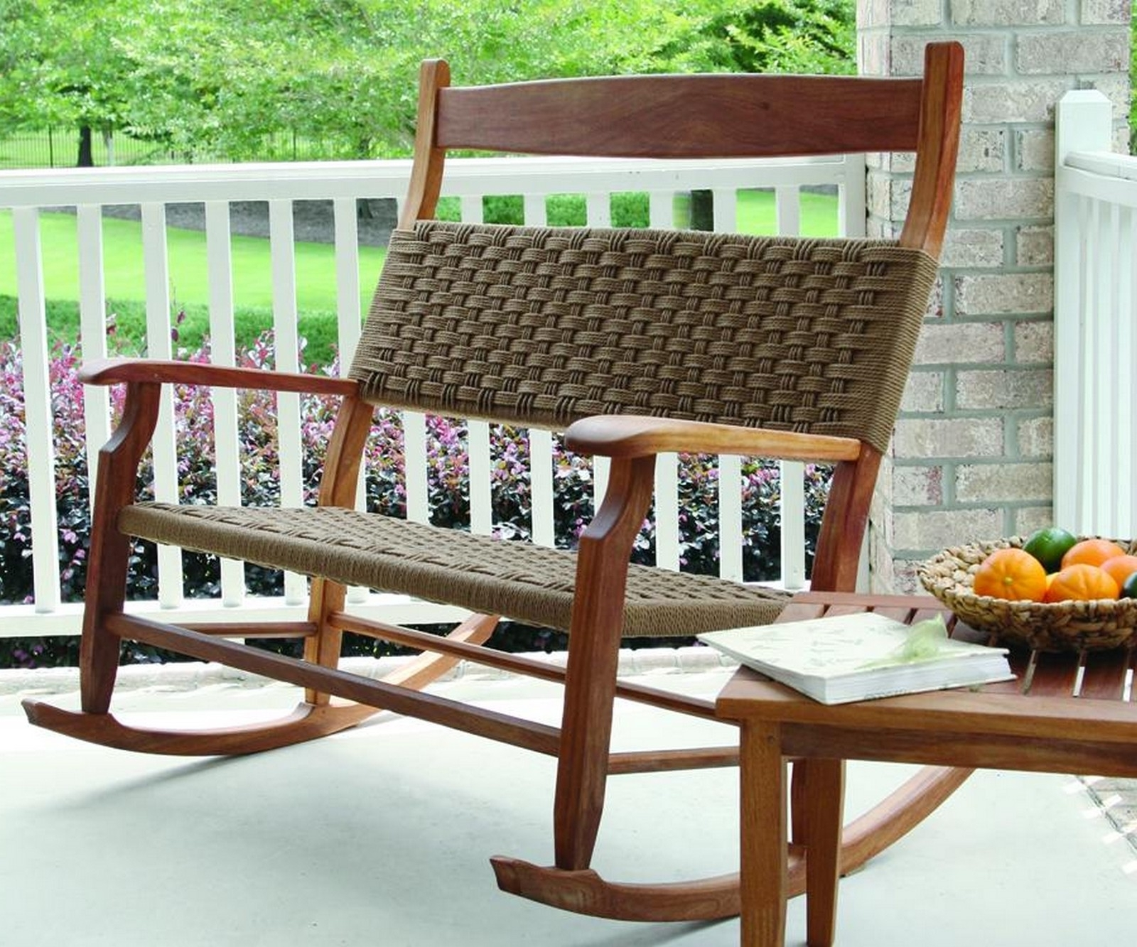Extra Large Rocking Chairs For Small Patio Design With White Deck Throughout Small Patio Rocking Chairs (#4 of 15)