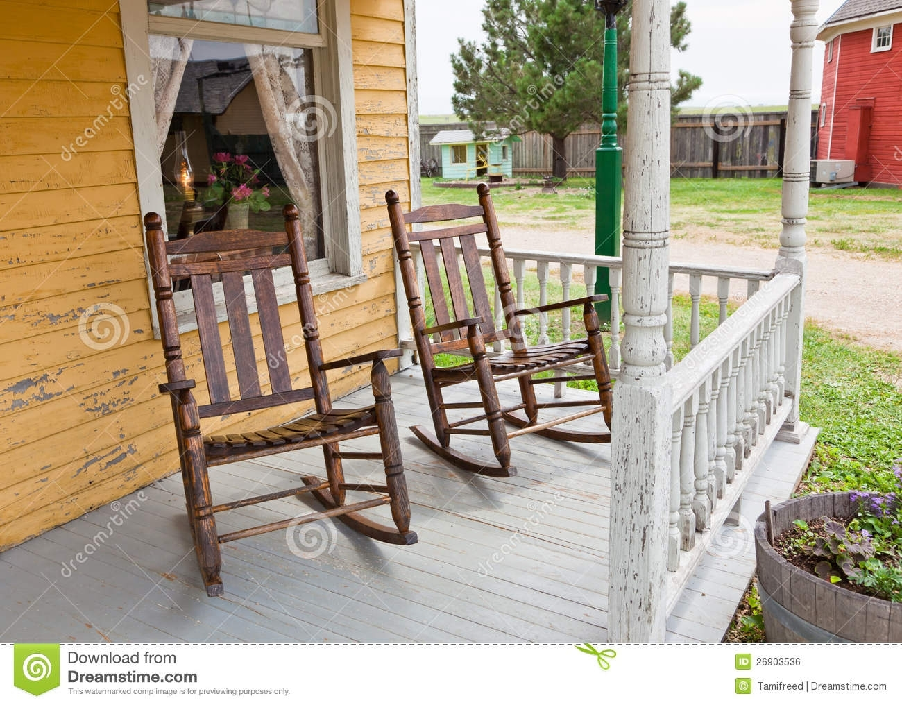 Front Porch Rocking Chairs Stock Photo (#5 of 15)