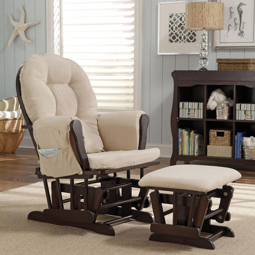 Furniture: Glider Ottoman Furniture Nursery Chair Baby Rocking Set Intended For Rocking Chairs For Nursery (#6 of 15)
