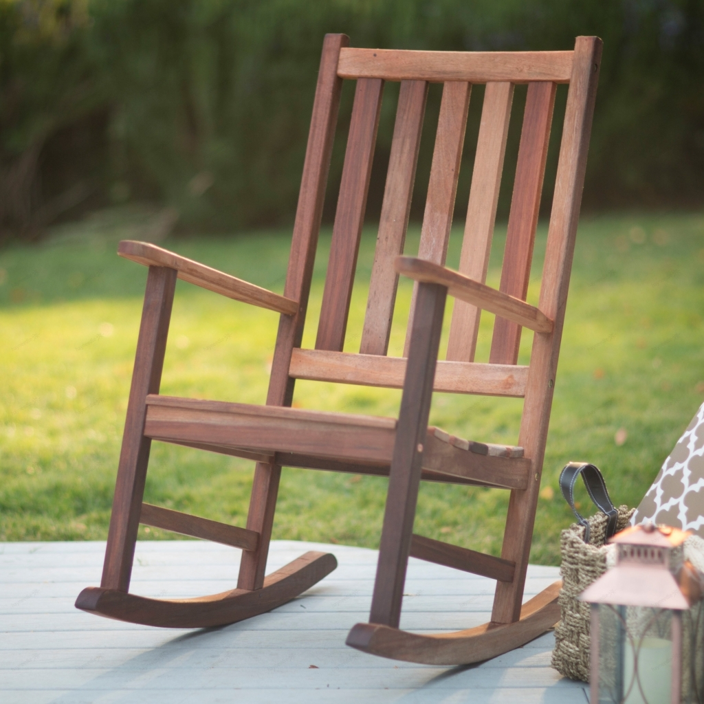 Furniture: Heavy Duty Rocking Chair Elegant Outdoor Wooden Rocking Throughout Rocking Chair Outdoor Wooden (View 6 of 15)
