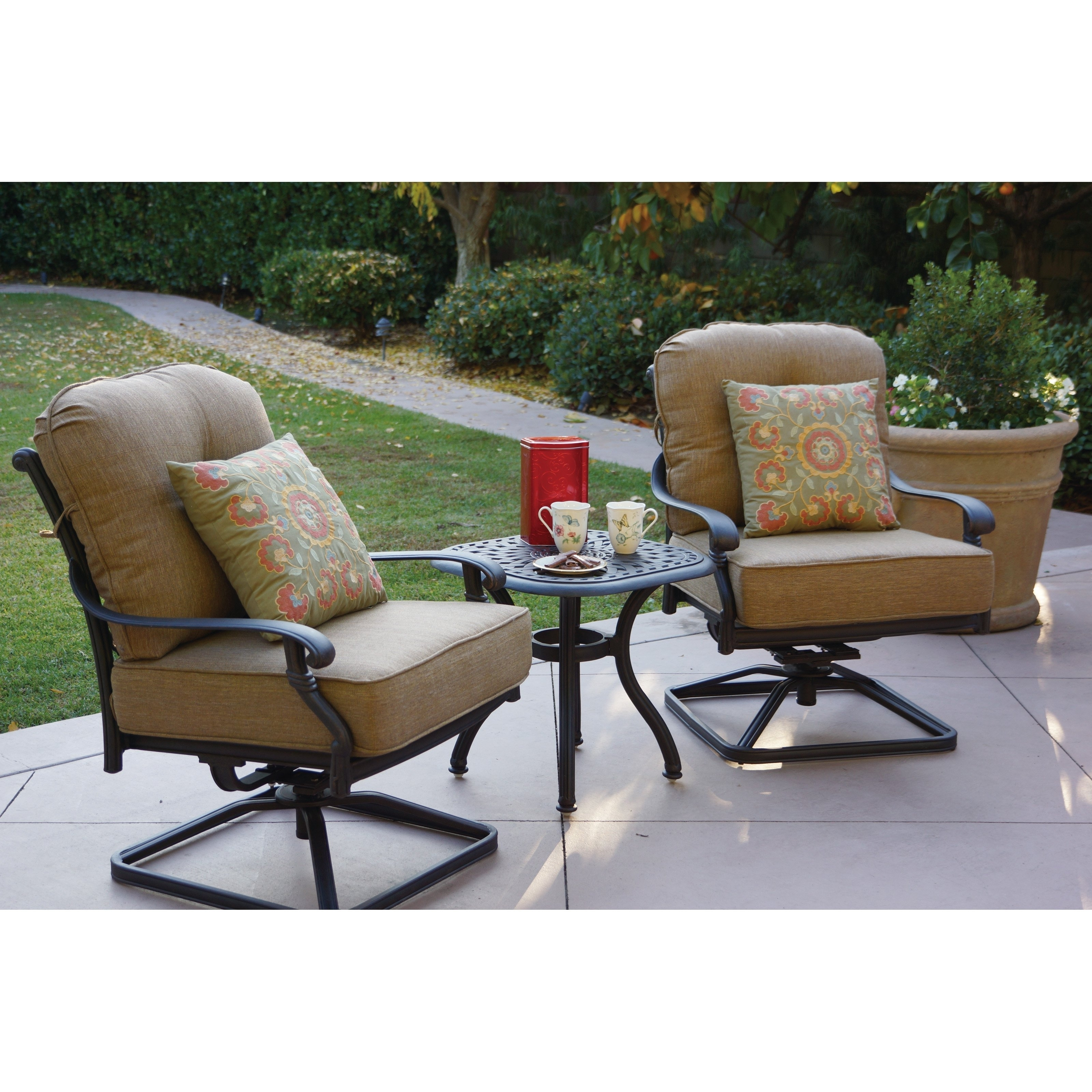 Furniture Remarkable Swivel Rocker Patio Chairs Ideas Made Decor Intended For Patio Rocking Swivel Chairs (#8 of 15)