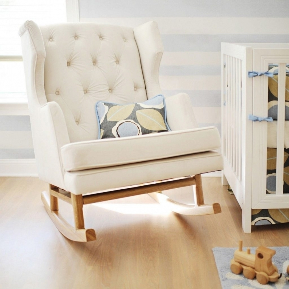 Furniture: White Rocking Chair For Nursery Uk Cushions Australia With Rocking Chairs With Cushions (View 6 of 15)