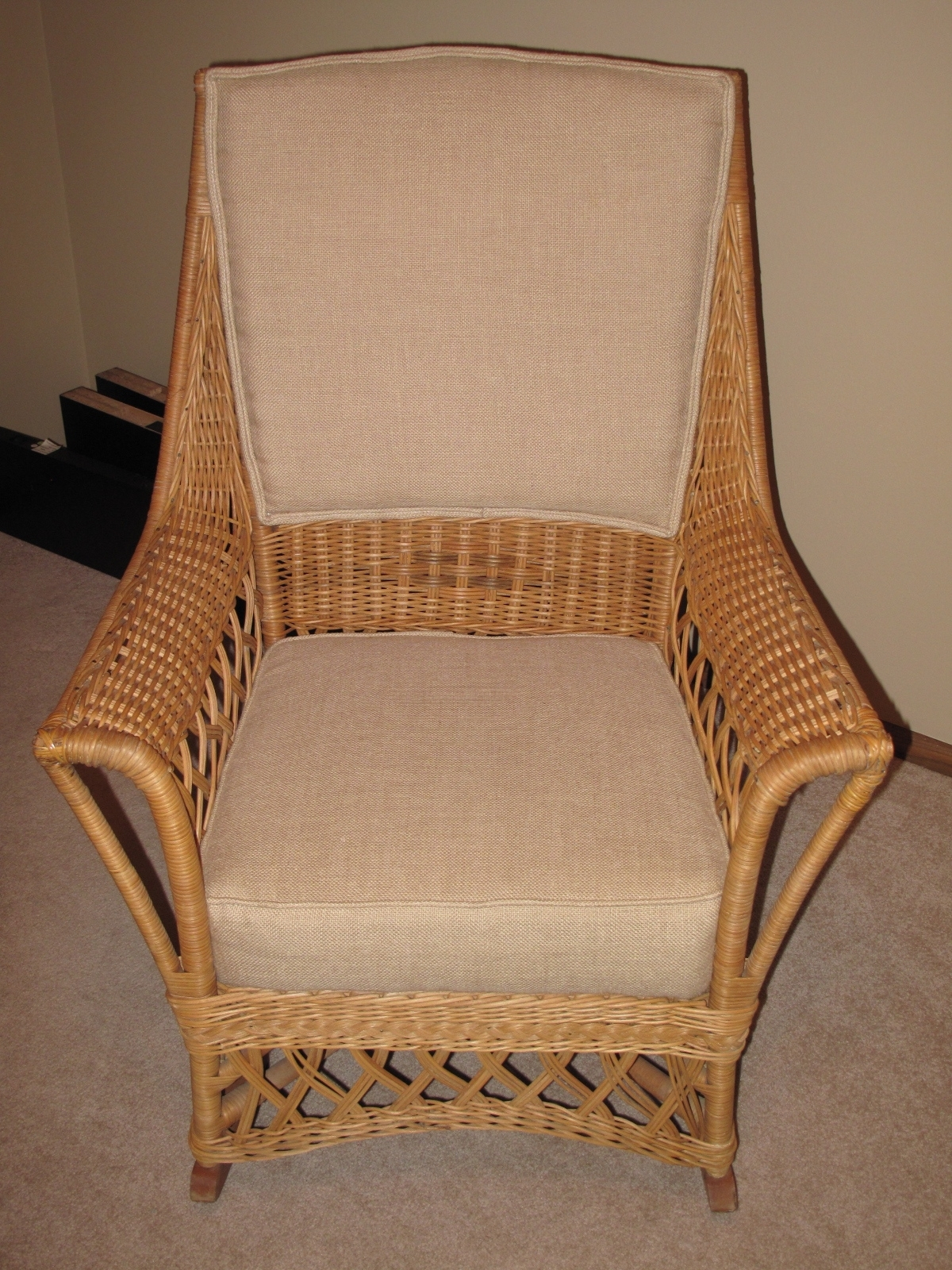Furniture: Ypsilanti Furniture Company Wicker Rocking Chair Antique Intended For Antique Wicker Rocking Chairs (#10 of 15)