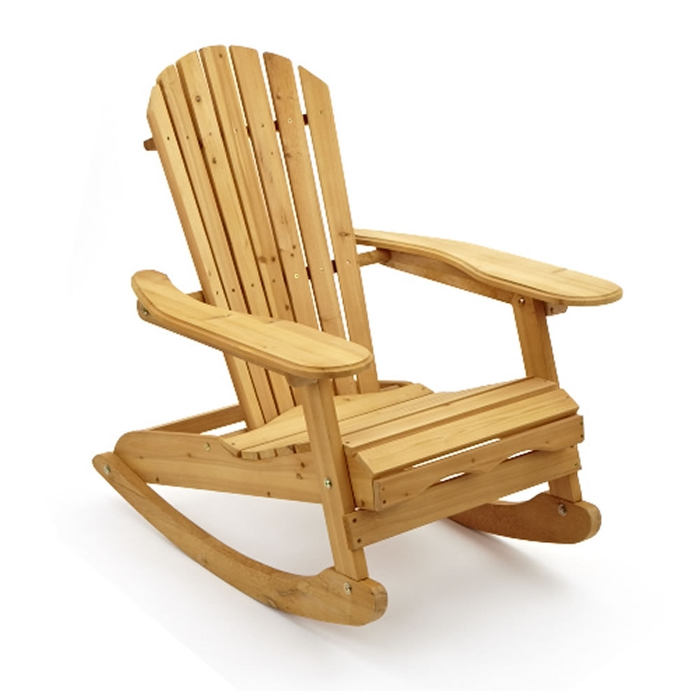 Inspiration about Garden Patio Wooden Adirondack Rocking Chair Pertaining To Rocking Chairs For Garden (#7 of 15)