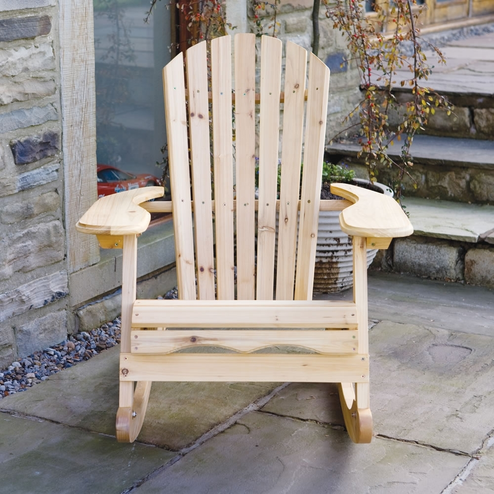 Inspiration about Garden Patio Wooden Adirondack Rocking Chair With Patio Wooden Rocking Chairs (#6 of 15)