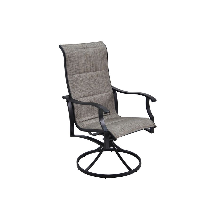 Garden Treasures Skytop 2 Count Black Steel Swivel Rocker Patio In Patio Sling Rocking Chairs (View 15 of 15)