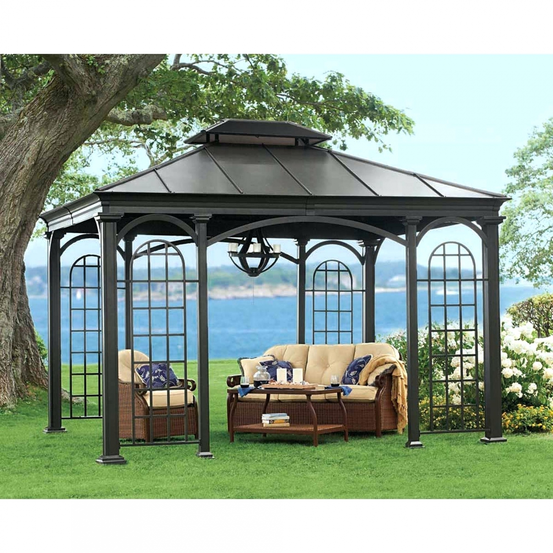 Gazebo Rona Hardtop Gazebos For Ontario Clearance Throughout Patio In Rona Patio Rocking Chairs (#6 of 15)