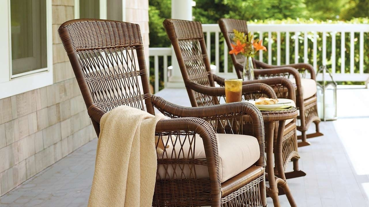 Good Outdoor Rocking Chairs With Cushions — Bistrodre Porch And In Unique Outdoor Rocking Chairs (#6 of 15)